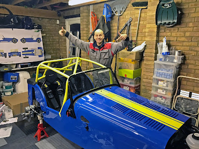 Sulphur Yellow Roll Cage fitted to my Caterham Academy Car