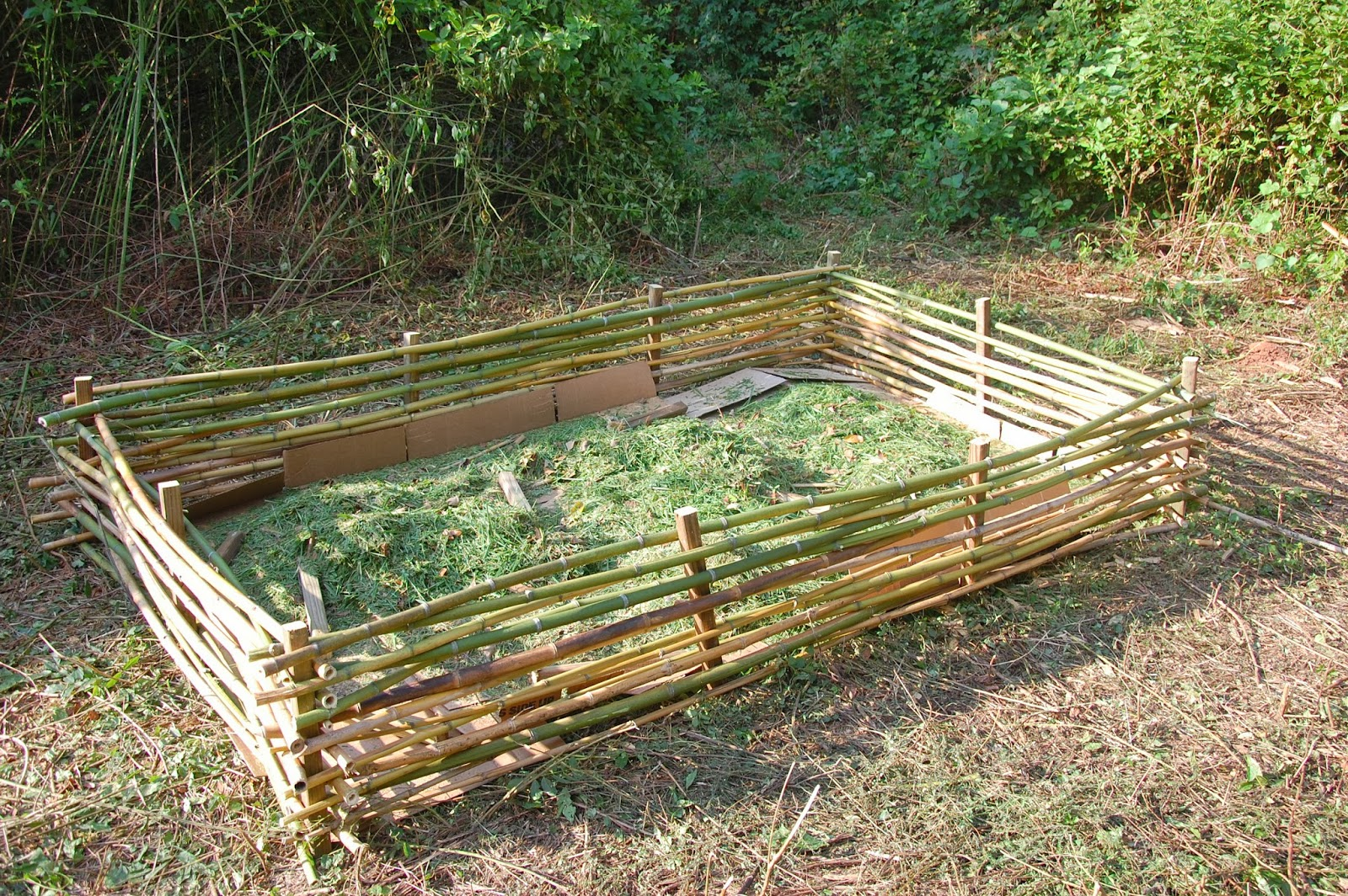The Hippie Homestead Building A Raised Bed With Bamboo