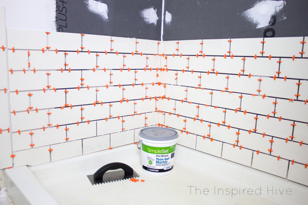 Installing shower tile