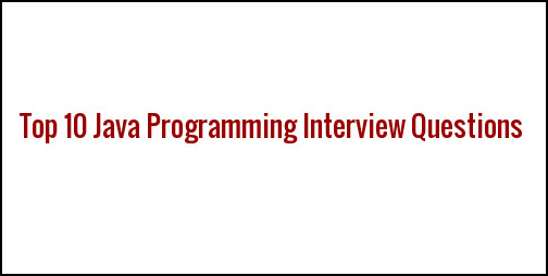 Java Coding Interview Questions