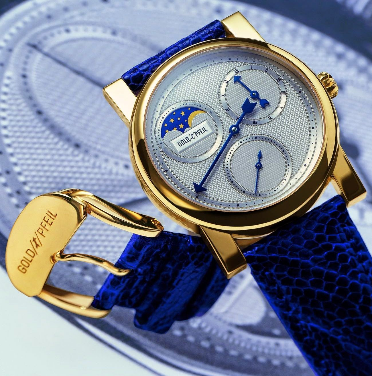 GOLDPFEIL GENEVE Moon Phases by Frank Jutzi, Exclusive Collection