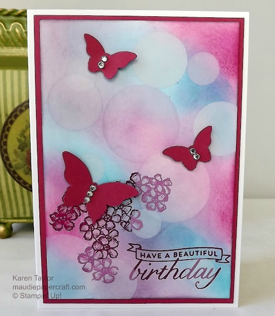 Stampin Up! Bokeh card