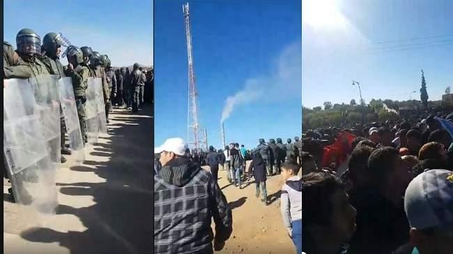عاجل .. الاحتجاجات متواصلة في جرادة والأمن يحاصر المتظاهرين .. وهذه مطالبهم