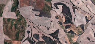 grotesques,abstract allegory,Spain fields from the air,abstract expressionist photography, abstract landscape, fantasy imaginary forms,