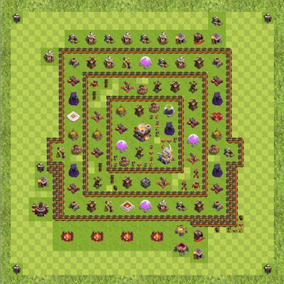 War Base Town Hall Level 11 By Jhun Tojot (Hybrid TH 11 Layout)