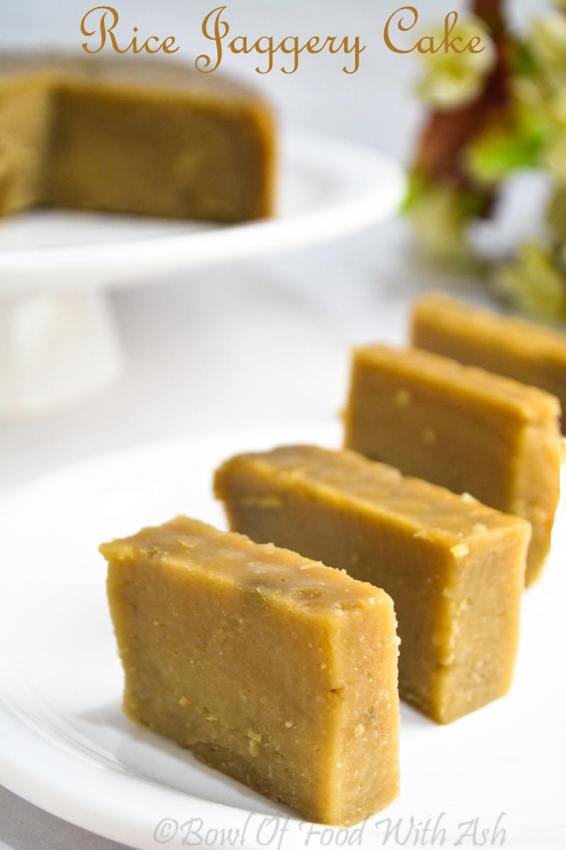 Rice Jaggery Cake Recipe | How to Make Sweet Rice Cake