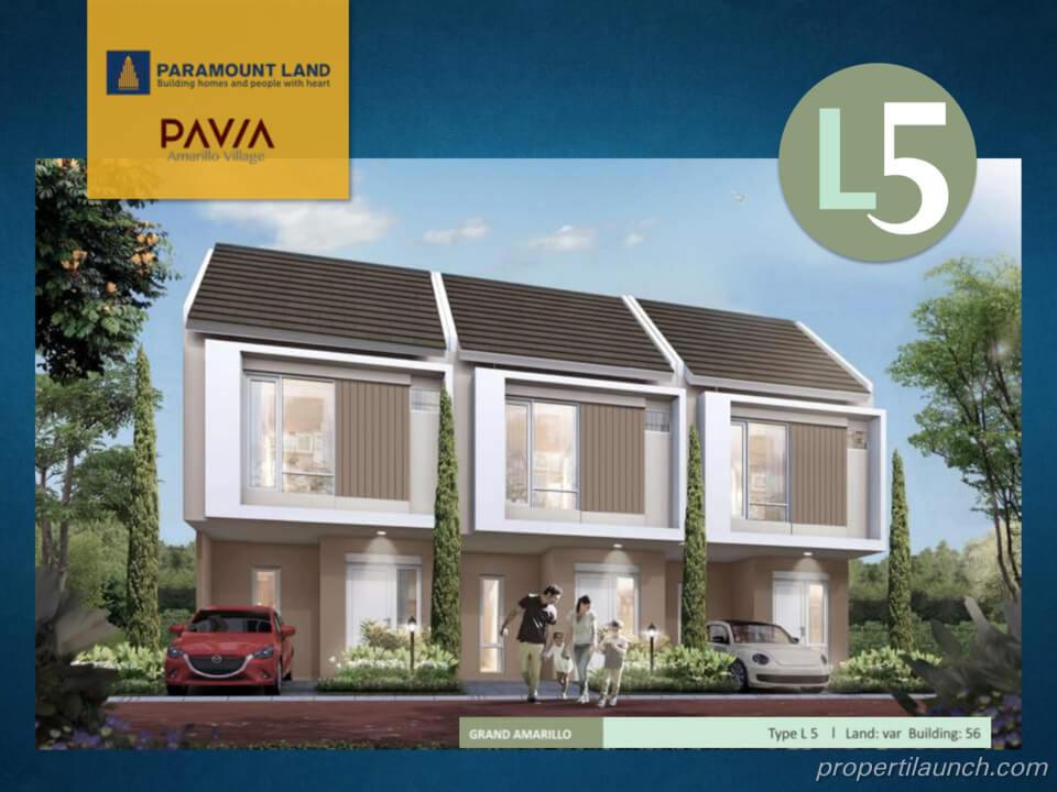Rumah Pavia Amarillo Village Tipe L5