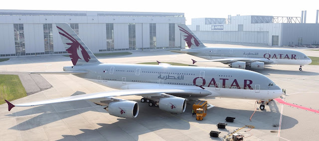 Qatar Airways Flies Super Jumbo Jet A380