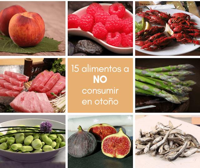 Consumo responsable: 5 alimentos a NO consumir en otoño