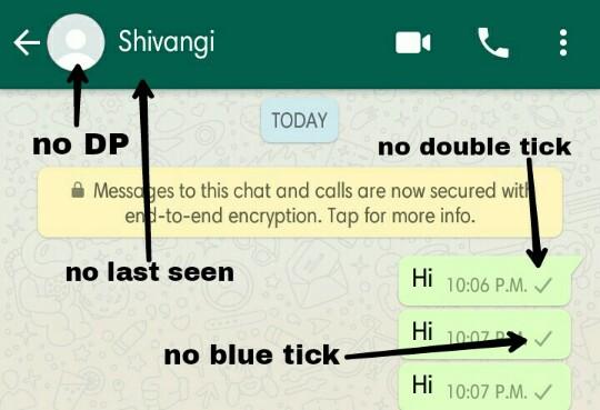 WhatsApp par block ko kaise pehchanu
