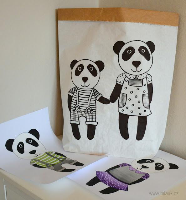 papírový pytel panda