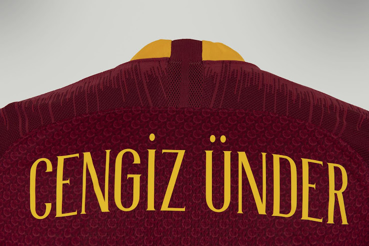 Update - Unique Nike AS Roma 18-19 Kit Font Released - Footy