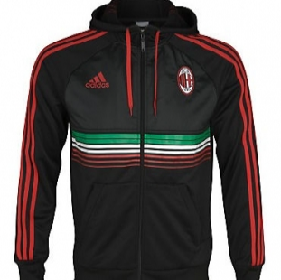 classic football shirts 2011 12 ac milan adidas veste anthem noir. Black Bedroom Furniture Sets. Home Design Ideas