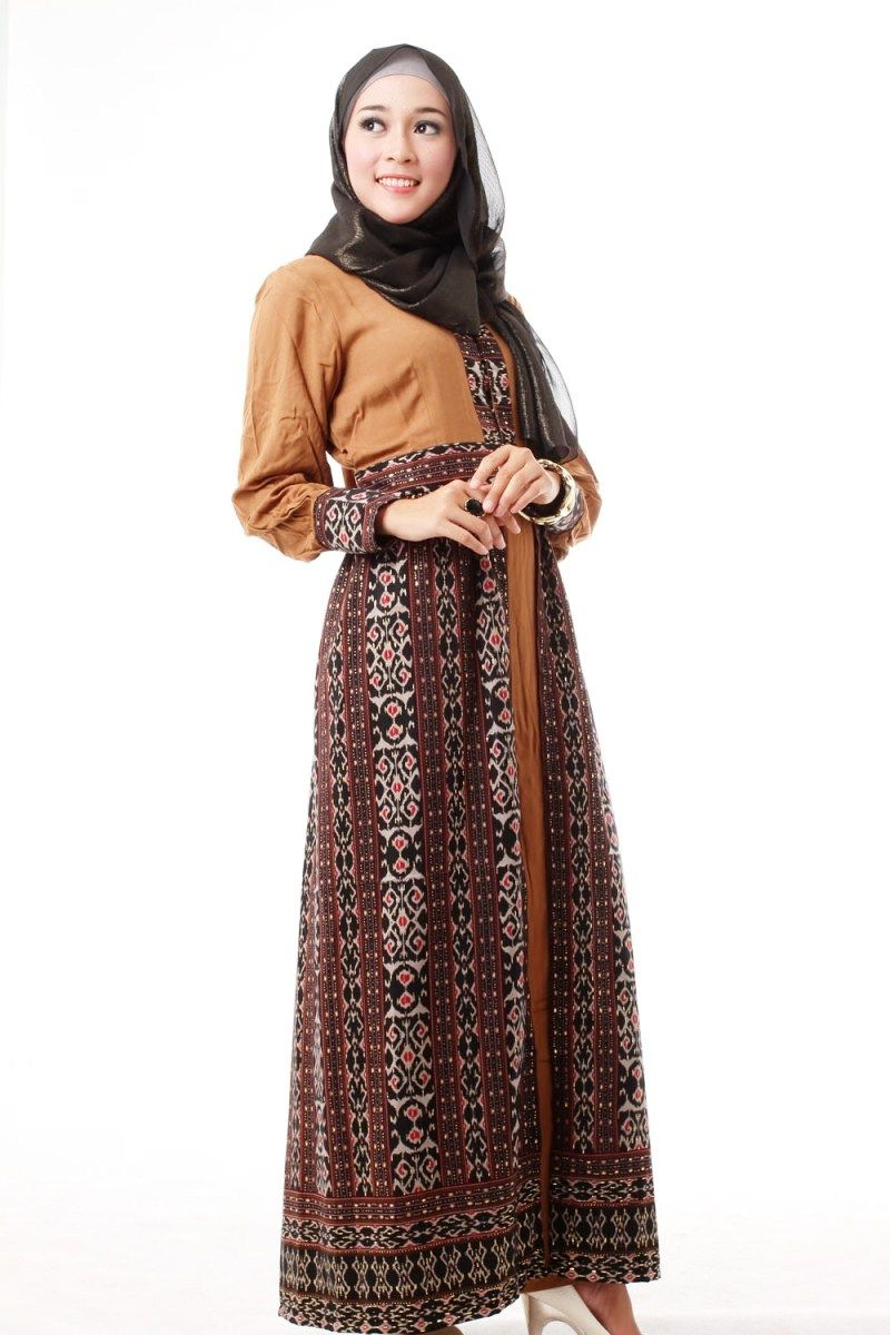 Baju Batik Kombinasi Wanita Muslim Jilbab Gucci