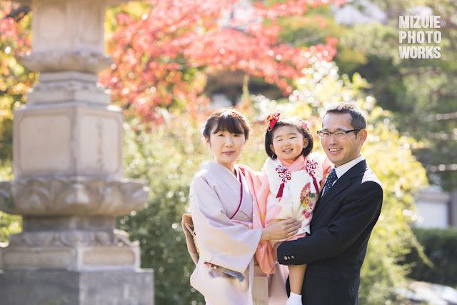 長野市の善光寺で七五三ロケーション撮影