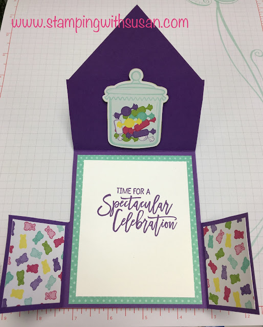 Stampin' Up!, How Sweet It Is, www.stampingwithsusan.com, Fun Folds, Sweetest Thing, Birthday Cheer