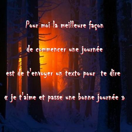 Texte de bonjour ~ Poèmes et Textes d\'amour 2018