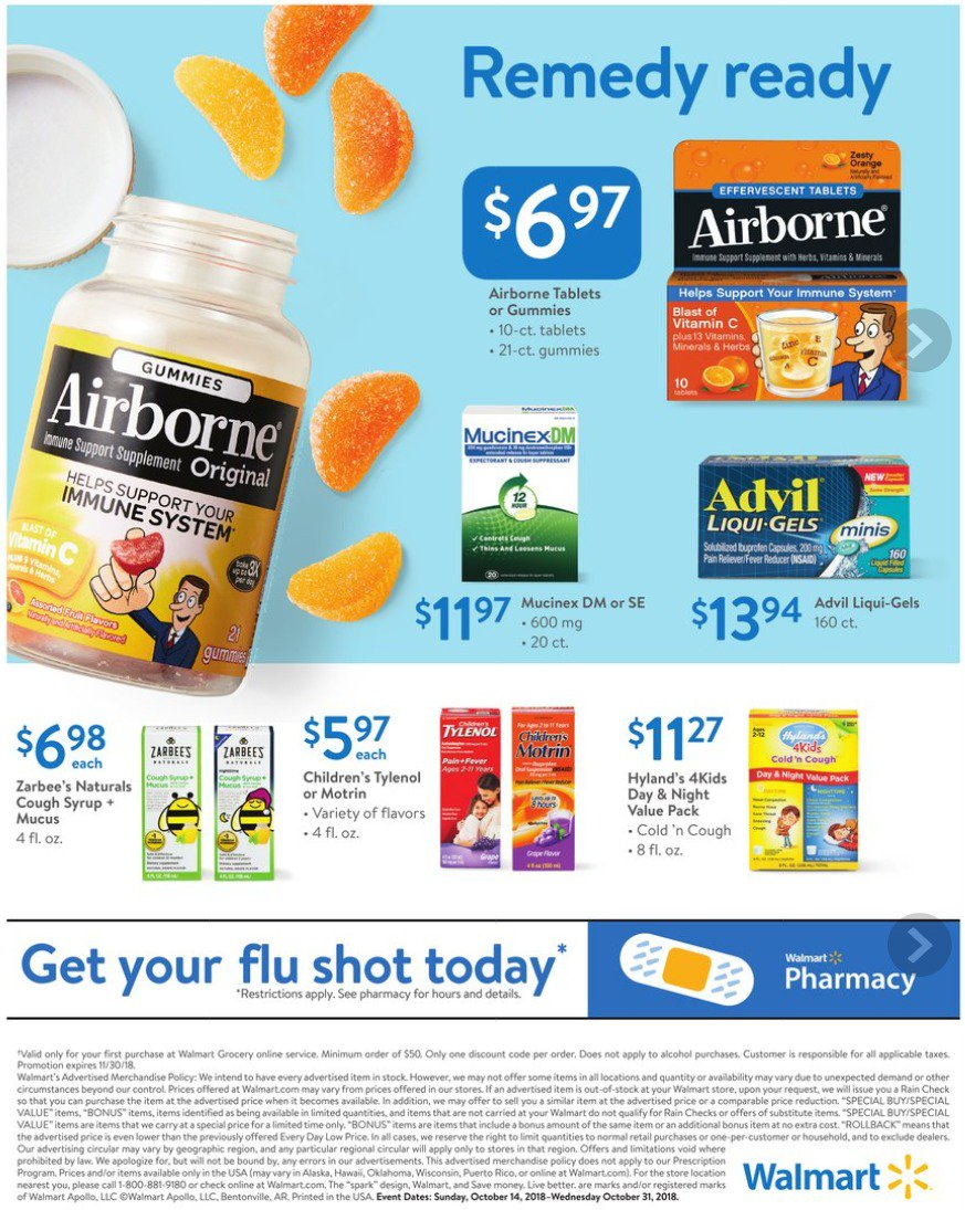 Walmart Weekly Ad October 14 – October 20, 2018 | Grocery Weekly Ads