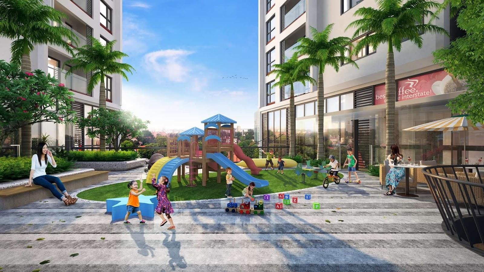 Khu vui chơi trẻ em dự án Green Pearl 378 Minh Khai