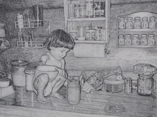 drawing in pencil by john huisman artist