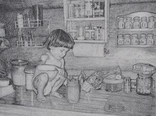 drawing in pencil by john huisman artist