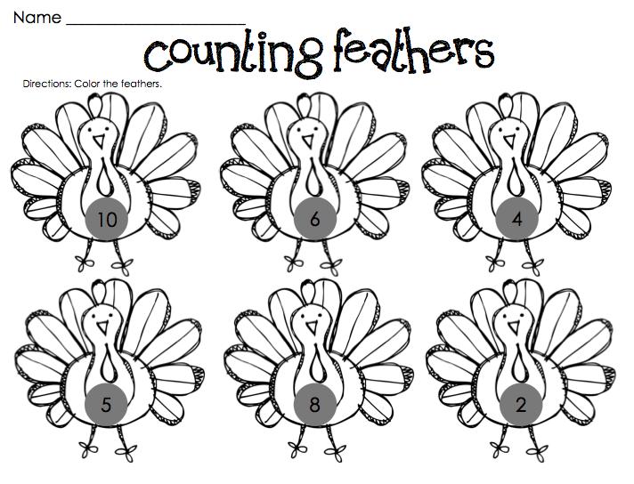 Kindergarten Fever: Thanksgiving Printables