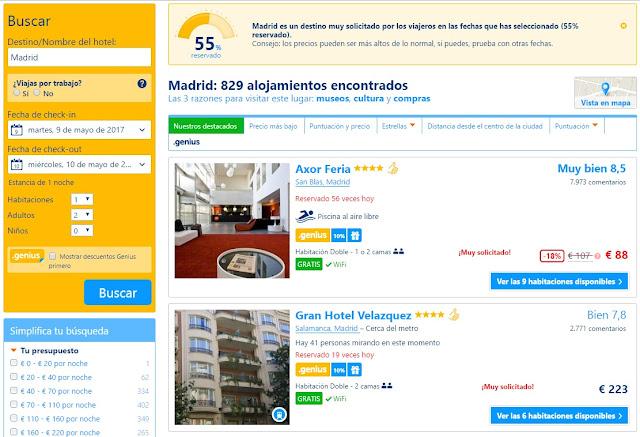 Alojamiento barato en Madrid en primavera