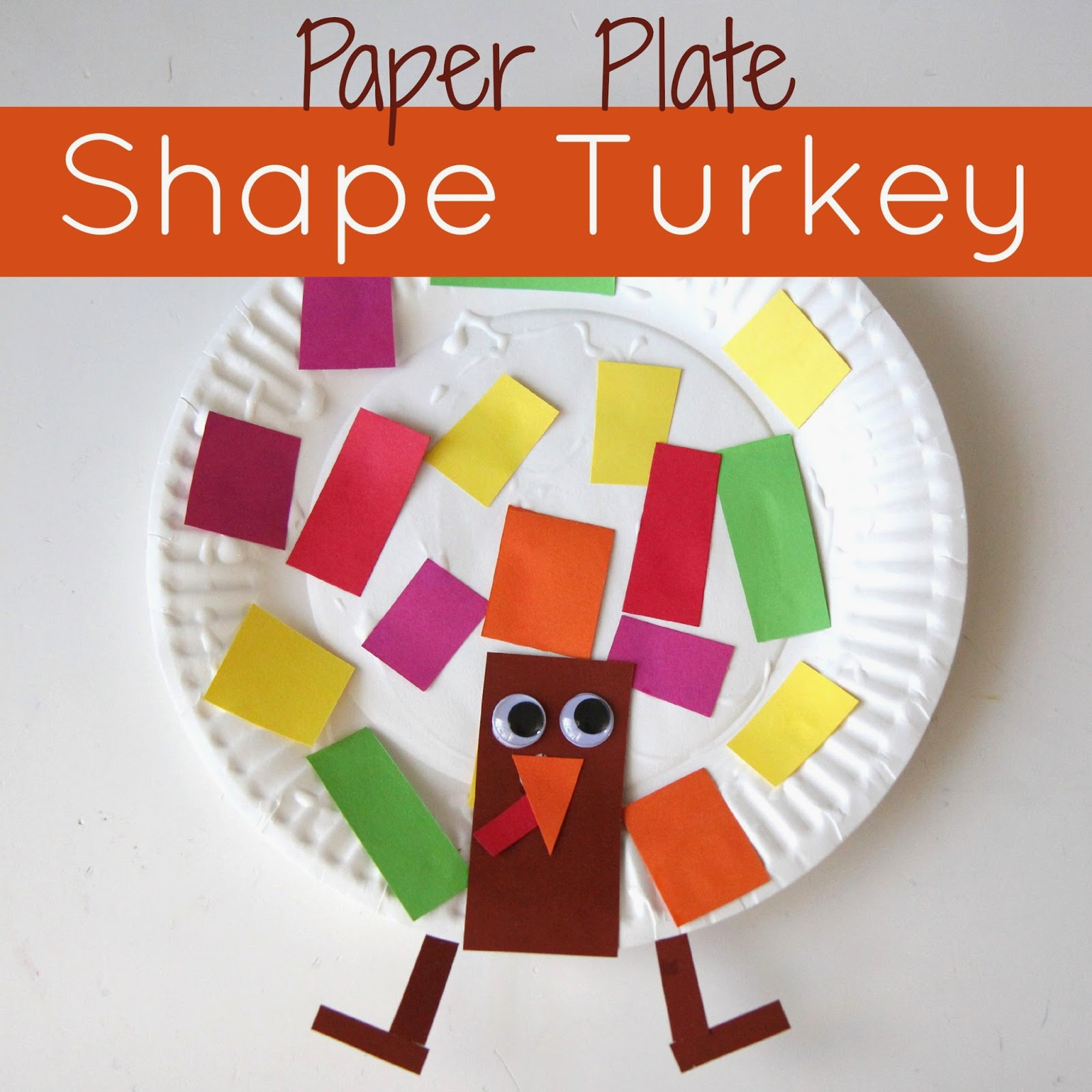 Toddler Approved Paper Plate Shape Turkey Craft