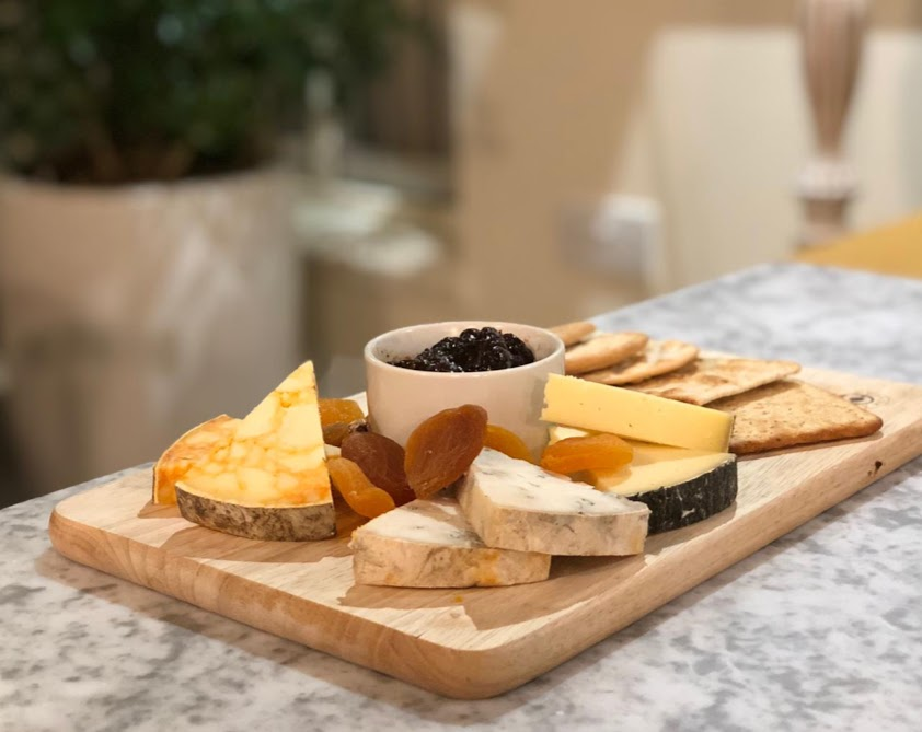Waterside Cornwall Review | Self-Catering Lodges Near The Eden Project - Cornish cheese board