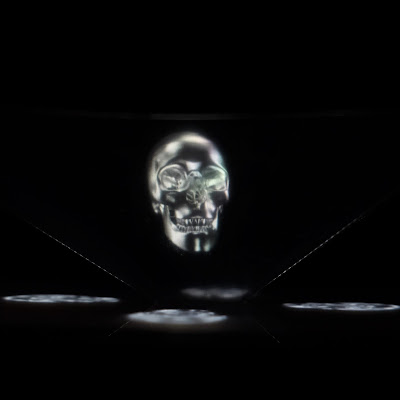 Acetate Hologram viewer tutorial by Nadine Muir for Silhouette UK Blog including free cut file.  Skull video