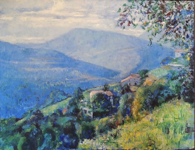Juan Gil pintura al óleo paisaje de Montseny