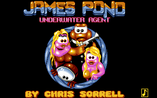James Pond Underwater Agent title screen Amiga