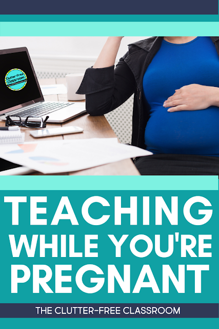 Teaching while pregnant certainly isn't easy! This blog post is sharing ways to survive teaching when you are expecting a baby. It even has some great ideas on the best snacks to eat when you're pregnant and what to wear. If you're a teacher and pregnant, make sure you read this post! #pregnantteacher #teachingwhilepregnant #elementaryteaching