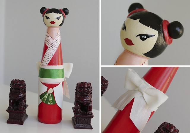Bokeshi dolls : bottle Japanese dolls