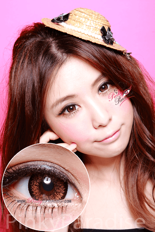 Geo Super Size Nudy Brown Circle Lenses (Colored Contacts)