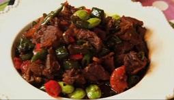 Cara memasak daging iris masak petai, resep daging iris masak petai