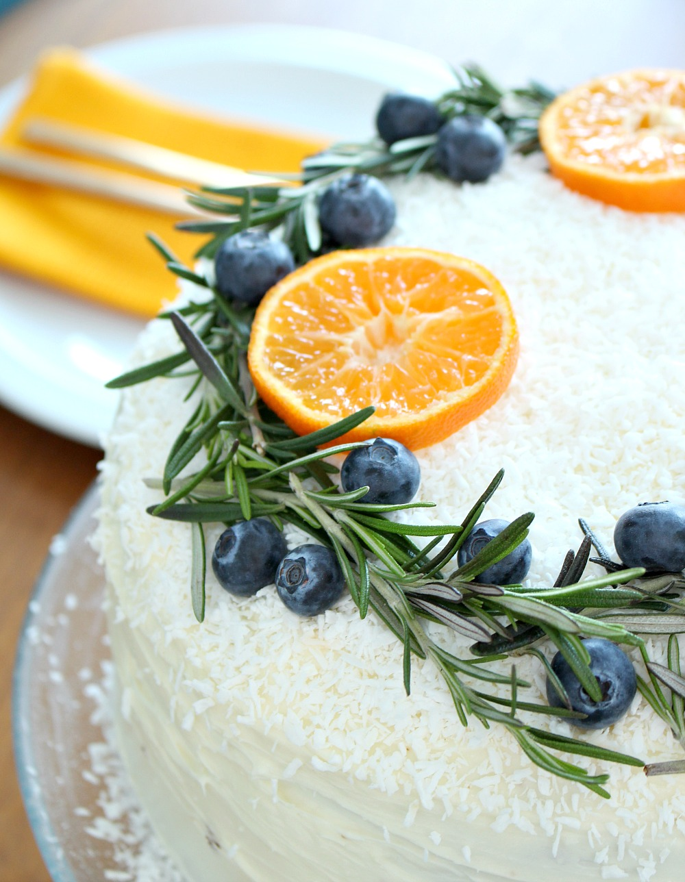Carrot Cake with Natural Wreath Cake Decoration | Festive ...