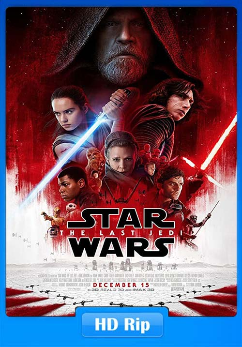 Star Wars The Last Jedi 2017 Hindi Telugu Tamil 720p BDRip ESubs x264 | 480p 300MB | 100MB HEVC