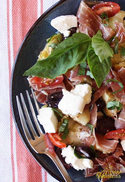 The Bubbly Hostess: Artichoke and Prosciutto Salad