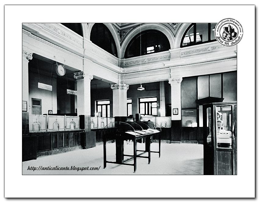 Ant c detalles de una ciudad edificio de correos alicante for Oficina de correos alicante