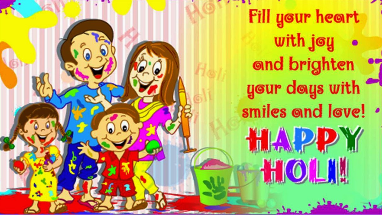 Happy Holi 2018 Images,Pictures,Greeting for Kids