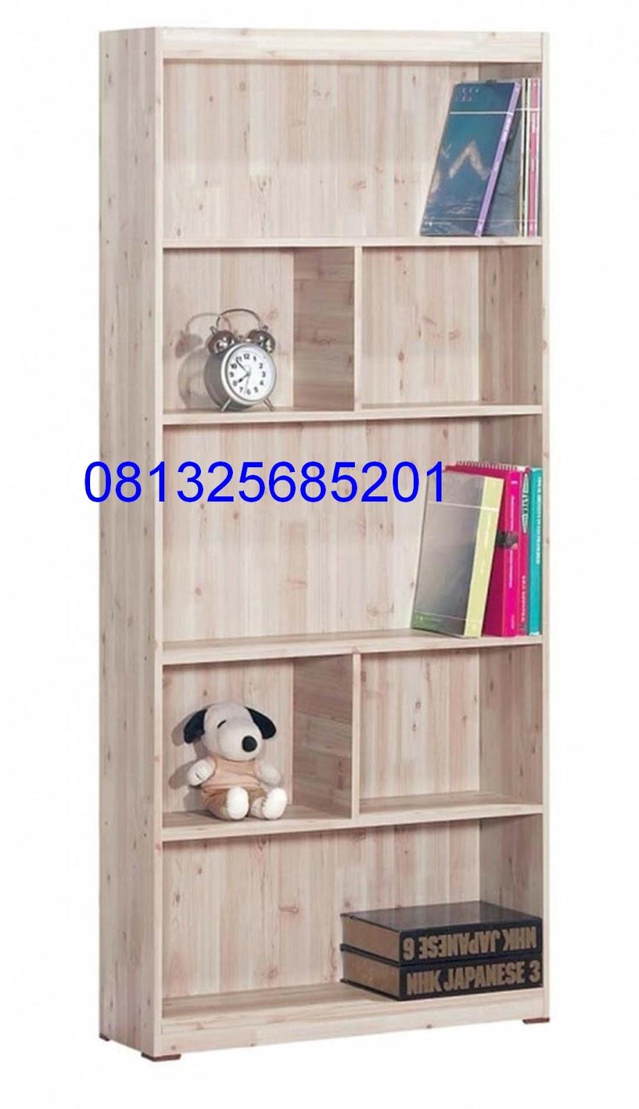 Images Almari Rak Buku Jati Minimalis Pintu Geser Mebel