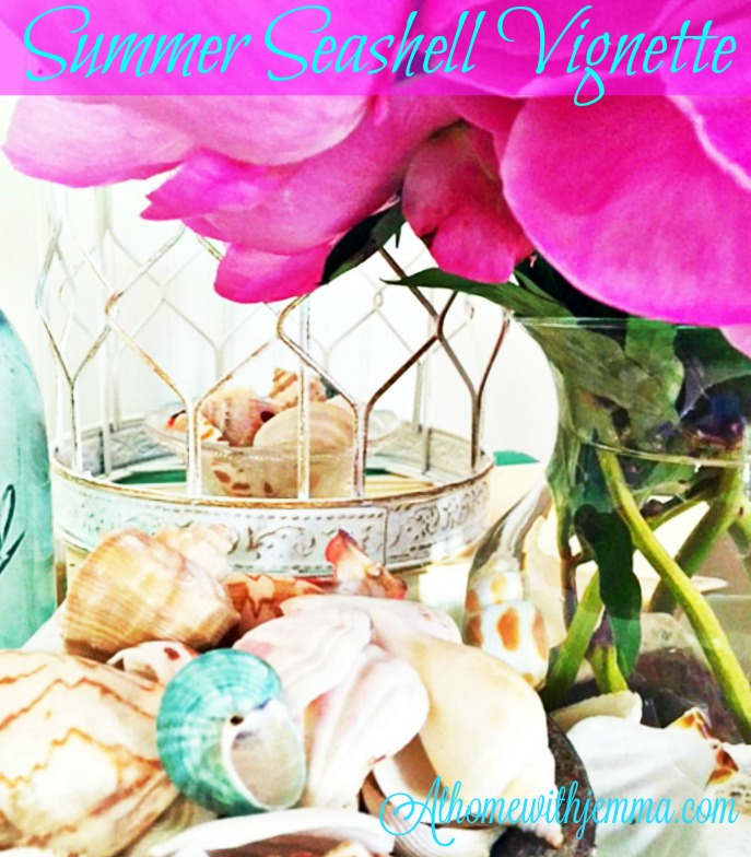Summer Seashell Vignette