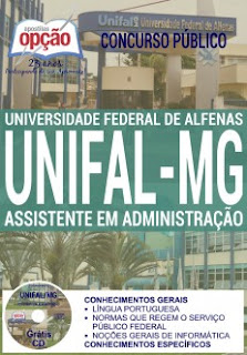 Apostila concurso UNIFAL-MG - Universidade Federal de Alfenas 2016