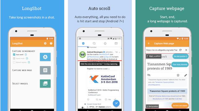 cara mengambil screenshot memanjang di android