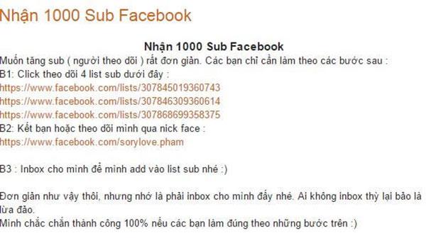 sub facebook