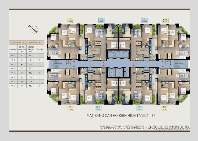 mặt bằng chung cư vinata tower
