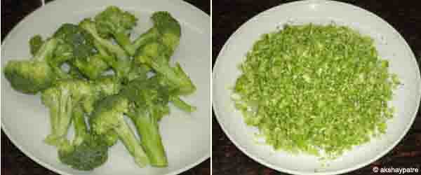 grated broccoli