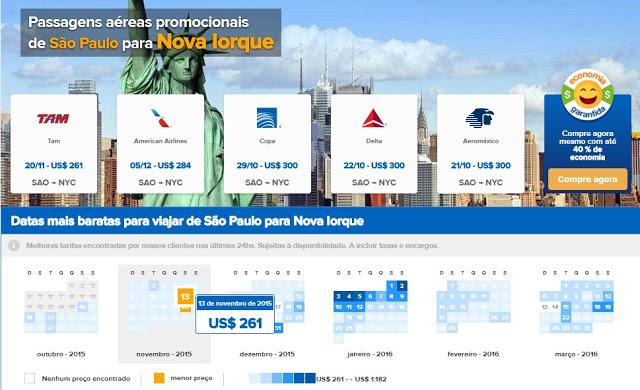 Passagens aéreas para Nova York