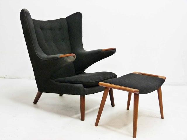 Hans J. Wegner AP-19 Papa Bear Chair & Ottoman by AP Stolen, Denmark 1